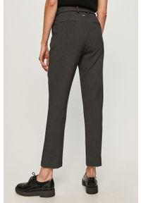 Szare spodnie materiałowe Silvian Heach klasyczne, z podwyższonym stanem