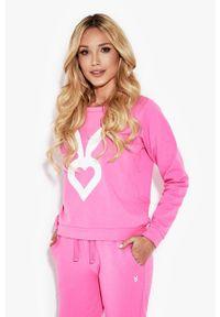 Cardio Bunny - Bluza Poppy. Okazja: na co dzień. Kolor: fioletowy. Długość rękawa: długi rękaw. Długość: długie. Wzór: nadruk. Styl: casual
