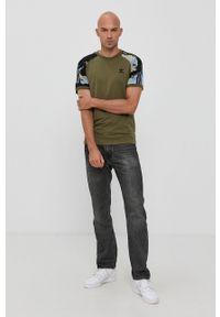 adidas Originals - T-shirt bawełniany Street. Kolor: zielony. Materiał: bawełna. Styl: street