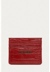 TwinSet - Twinset - Portfel. Kolor: czerwony
