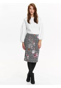 Czarna spódnica TOP SECRET na jesień, elegancka, z aplikacjami