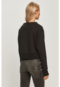 Champion - Bluza bawełniana. Okazja: na co dzień. Kolor: czarny. Materiał: bawełna. Styl: casual