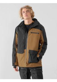 4f - Kurtka snowboardowa memebrana 15 000 męska. Typ kołnierza: kaptur. Kolor: czarny. Materiał: mesh, materiał. Sezon: zima. Sport: snowboard