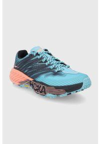 Hoka One One - Buty Speedgoat 4. Zapięcie: sznurówki. Kolor: niebieski. Materiał: guma. Wzór: geometria. Sport: bieganie