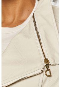 Biała kurtka Desigual gładkie, casualowa, na co dzień
