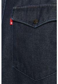 Niebieska koszula Levi's® na spotkanie biznesowe, z klasycznym kołnierzykiem, długa