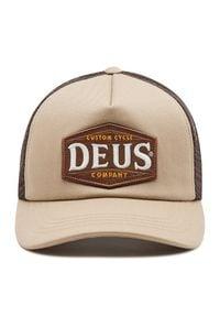 Deus Ex Machina Czapka z daszkiem American Twin Trucker DMA207534 Beżowy. Kolor: beżowy