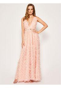 Różowa sukienka koktajlowa Babylon wizytowa