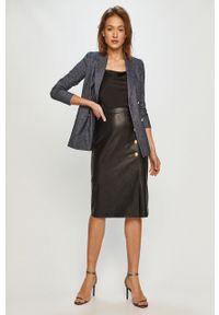 Czarna spódnica Pinko z podwyższonym stanem, gładkie, klasyczna