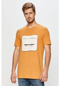 Wielokolorowy t-shirt John Frank z okrągłym kołnierzem, casualowy
