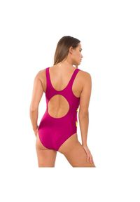 Rontil - Strój basenowy RONTIL 2431. Kolor: różowy. Materiał: lycra, poliamid, materiał, elastan