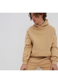 House - Bluza oversize z bawełny organicznej - Beżowy. Kolor: beżowy. Materiał: bawełna