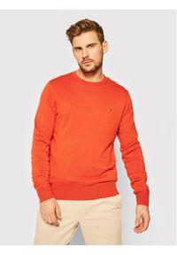 Pomarańczowy sweter klasyczny TOMMY HILFIGER