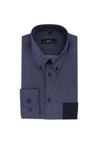 Niebieska koszula Giacomo Conti w kolorowe wzory, button down