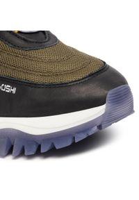 Zielone sneakersy Togoshi z cholewką, na co dzień