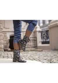 Czarne botki Zapato boho, wąskie