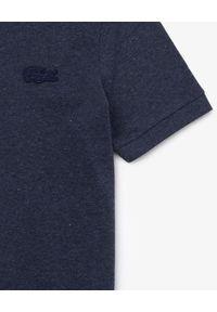 Lacoste - LACOSTE - Granatowy t-shirt polo ze ściągaczami. Okazja: na co dzień. Typ kołnierza: polo. Kolor: niebieski. Styl: klasyczny, casual