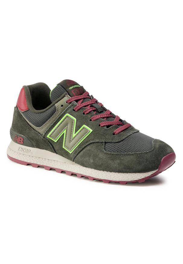 Zielone buty sportowe New Balance z cholewką, na co dzień