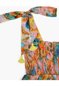 ZIMMERMANN KIDS - Wzorzysta sukienka z falbanami Estelle. Kolor: niebieski. Długość rękawa: na ramiączkach. Wzór: kwiaty, nadruk #3