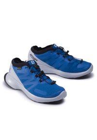 Niebieskie buty do biegania salomon Gore-Tex