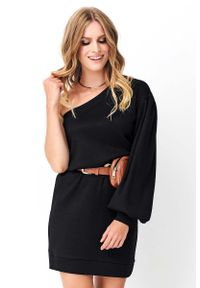 Czarna sukienka wizytowa Makadamia mini
