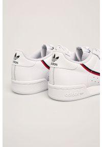 Białe buty sportowe adidas Originals na średnim obcasie, z cholewką, na obcasie