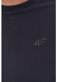 4f - 4F - Bluza bawełniana. Okazja: na co dzień. Kolor: niebieski. Materiał: bawełna. Wzór: gładki. Styl: casual