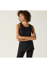 NYAMBA - Koszulka bez rękawów fitness. Kolor: czarny. Materiał: materiał, bawełna. Długość rękawa: bez rękawów. Sport: fitness