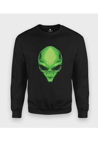 MegaKoszulki - Bluza klasyczna Zielony kosmita. Kolor: zielony. Styl: klasyczny