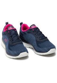 Niebieskie buty do fitnessu skechers