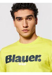 Blauer T-Shirt Usa 21SBLUH02128 004547 Żółty Regular Fit. Kolor: żółty