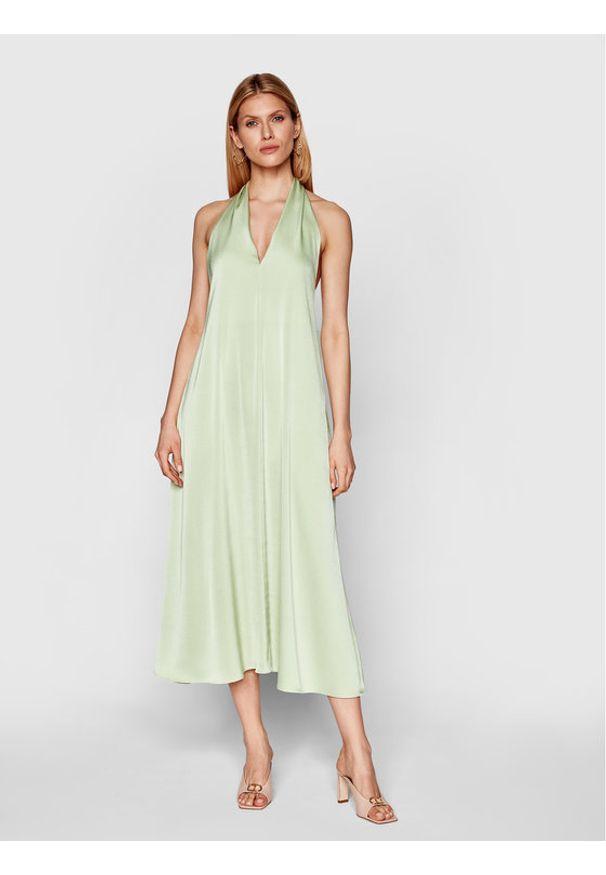 Samsoe & Samsoe - Samsøe Samsøe Sukienka koktajlowa Cille F21100203 Zielony Regular Fit. Kolor: zielony. Styl: wizytowy