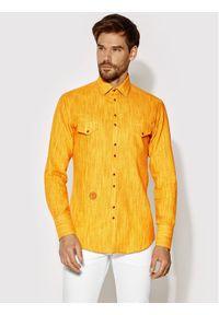 Rage Age Koszula Aldebaran 1 Żółty Slim Fit. Kolor: żółty