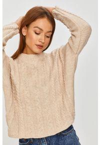 Beżowy sweter Answear Lab wakacyjny, długi