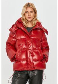 Czerwona kurtka Sportmax Code z kapturem, klasyczna