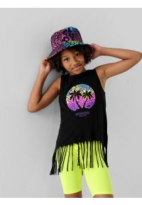 4f - Kapelusz bucket hat dziecięcy. Kolor: wielokolorowy. Materiał: bawełna, dzianina