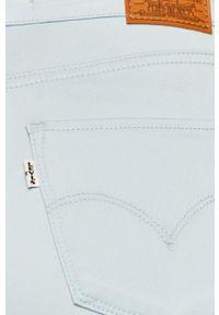Niebieskie jeansy Levi's® na spotkanie biznesowe, z podwyższonym stanem, biznesowe, w kolorowe wzory