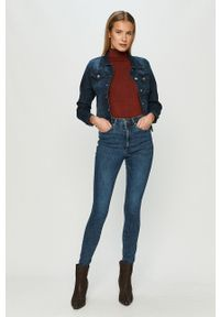 Vero Moda - Jeansy Loa. Kolor: niebieski