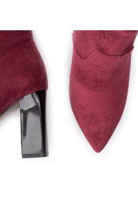 Caprice - Botki CAPRICE - 9-25308-23 Bordeaux Stre. 544. Kolor: czerwony. Materiał: materiał. Szerokość cholewki: normalna. Obcas: na obcasie. Wysokość obcasa: średni