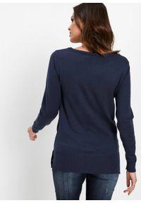 Niebieski sweter bonprix klasyczny