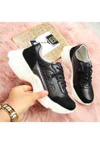 Czarne buty sportowe Vinceza