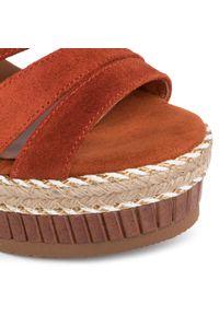 Pomarańczowe sandały Kanna casualowe, na co dzień