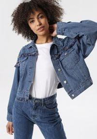 Born2be - Niebieska Kurtka Jeansowa Arapheia. Kolor: niebieski. Materiał: jeans