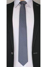 Niebieski krawat Chattier elegancki