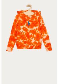 Pomarańczowa bluza Polo Ralph Lauren na co dzień, casualowa, polo