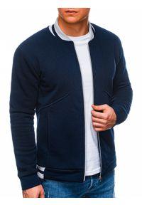 Niebieska bluza Ombre Clothing w paski, casualowa, na co dzień
