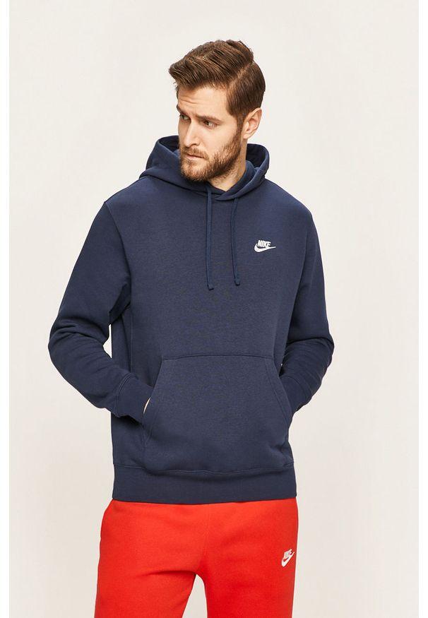 Niebieska bluza nierozpinana Nike Sportswear na co dzień, casualowa