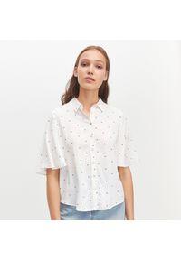 Biała koszula Reserved z krótkim rękawem, krótka