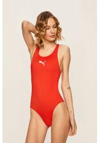 Czerwony strój kąpielowy Puma z nadrukiem