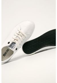 Białe tenisówki Big-Star na sznurówki, z okrągłym noskiem, z cholewką